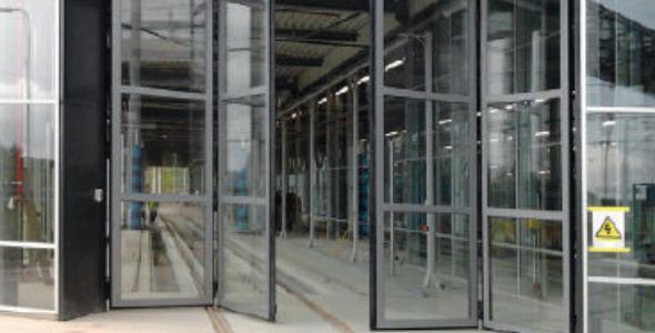 Industriële vouwdeur - meer informatie