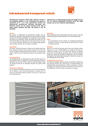 Transparante roldeur - meer informatie