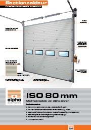 ISO 80 - Alpha deuren Zuid-West